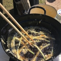 朝市の天ぷら