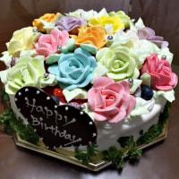バラのバースデーケーキ