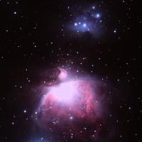 M42わずかな雲と霧の切れ間から
