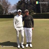 hiro.kei.brothersさんinstagram グンちゃんと秋山さん(^○^)