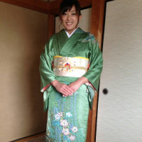 29,5,21出張着付は堺市南区、お宮参りの訪問着お二人の着付けでした。