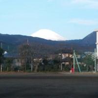 2/22(水)今朝の富士山、矢倉岳。