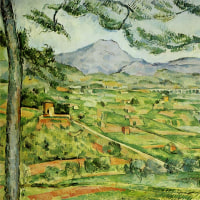 セザンヌ  「松の大木があるサント=ヴィクトワール山」