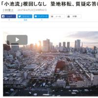 豊洲移転 と 築地市場
