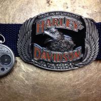 ハーレーのバックルとポケットウオッチ
