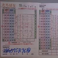 今日のゴルフ挑戦記(59)/新千葉CC「たちばな」イン→アウト(ベント)