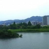 干潮時・満潮時の旧太田川
