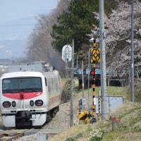 4月22日撮影 その4 小海線は八千穂駅にて桜と