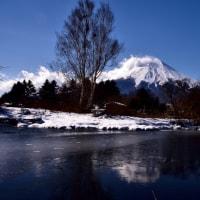 冬将軍と逆さ富士