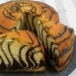 ゼブラケーキとショコラムース