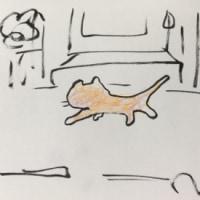 ネコちゃん歩いてました