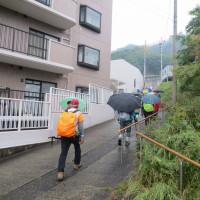 ② 松笠山~二ヶ城山縦走登山 : 出発です