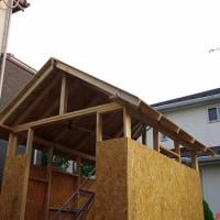 男の夢 ガレージ製作 ⑦屋根作りー1