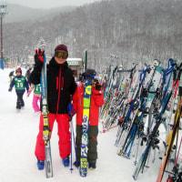 孫と2回目のスキー学習
