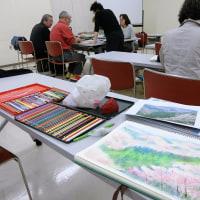 「水彩色鉛筆教室」4月後半は「吉野桜」の仕上げです
