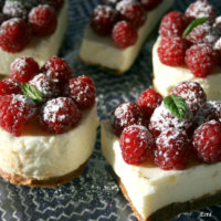 柚子の香り生クリームの入らない軽いレアチーズケーキ