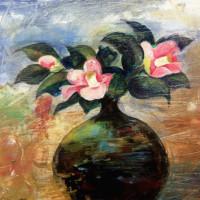 花の季節(油彩)