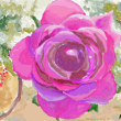 水彩画 アンジェの薔薇