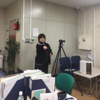 全員参戦!手話動画の収録を行いました。