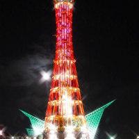 神戸港モザイク付近の夜景