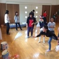 大口北児童(おおぐち きた じどう)センターでモンゴルの紹介(しょうかい)