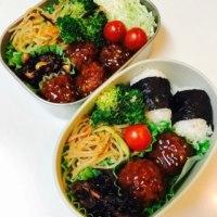 今日のお弁当☆肉団子とリンの好物