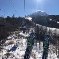 チャオ御岳で3時間。雪質申し分なし。