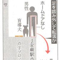 盲導犬男性 転落死