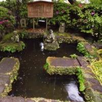 長谷寺で豪雨に見舞われ