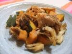 舞茸&豚肉&かぼちゃのバター炒め