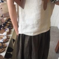 たっぷりギャザーのスカート