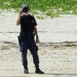 <7月21日の辺野古>シュワブ・駐車場下の作業現場沖で一日監視を続ける---軍警備員らの異常な行動