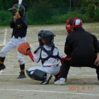 孫たちのソフトボール練習試合