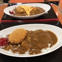 今日のお昼ご飯  コロッケカレー丼