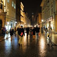 ポーランド クラクフ写真館 フロリアンスカ通りの夕べ