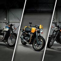 新型ボンネビルT100+T100BLACK、ストリートカップ発表!!
