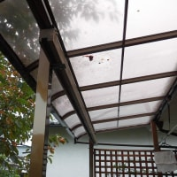 DIY(テラスを部屋らしく窓を付ける その2)