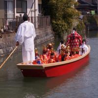 柳川雛祭りさげもんめぐり 水上パレード 神主の巫女 その12 2017・3・19