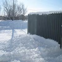 車庫屋根雪下ろし(3回目)