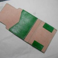 本革:手縫い:名刺入れを作ってみました♪