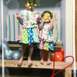お客さま着画2☆カラフル⇔シンプルなリバーシブルお花型サーキュラースカート90&120