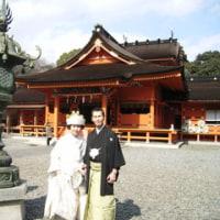浅間大社で神前式