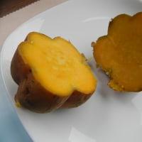 電気釜で蒸かし芋