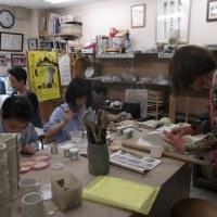 夏休み!!子供陶芸教室が始まりました。