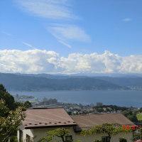 立ち位置からの諏訪湖