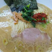 横浜ラーメン 味濱家さん 辛味大盛り細麺