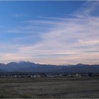 ★伊那谷から見る夕暮れの山々