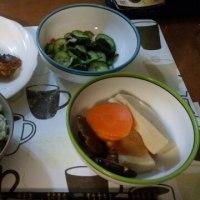 1月16日夕 さんまチーズサンド、山菜炊き込みご飯