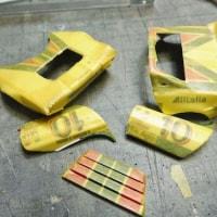 最終組み立て&ボディパーツマスキング&内装の塗装