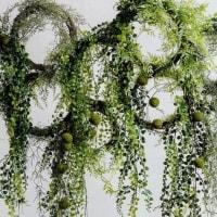 グリーンネックレス ハンギング垂れるタイプ 造花